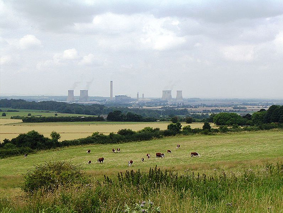 Didcot Power Station from the Clumps