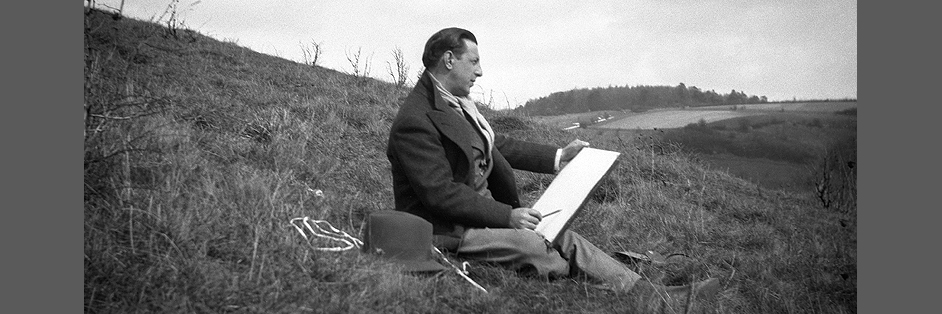 Paul Nash sketching c.1940